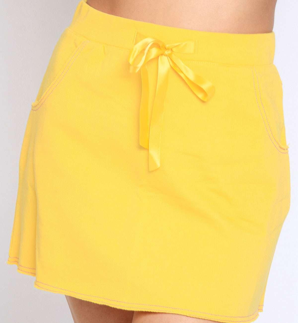 Jupe courte Taille Haute coton Léa