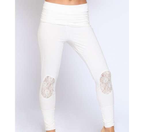Pantalon Coton Dentelle