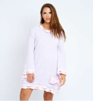 Robe tunique Pyjama lilas