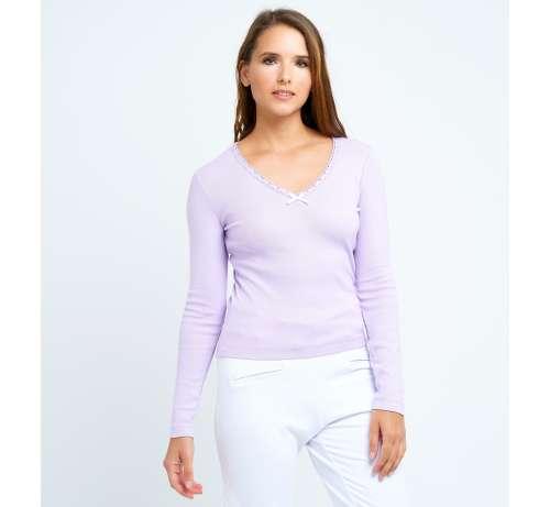 T shirt M.L. Coton lilas