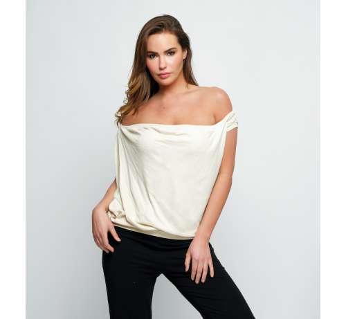 T shirt col Bateau manches courtes bambou