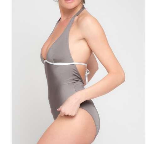 Une pièce maillot de bain gris