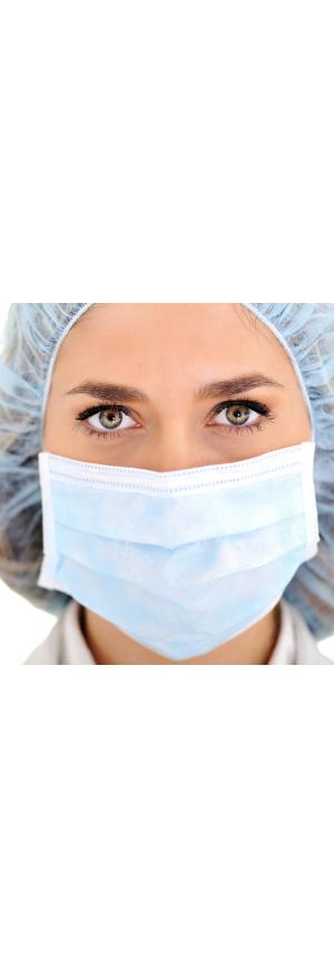 Masques chirurgicaux Type IIR fabriqué en France, lot de 22 boites de 50pcs, 1100pcs
